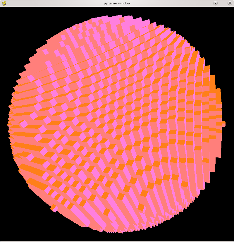 Voxel sphere rendered by Python